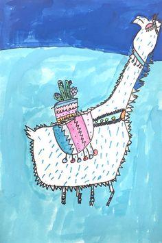 Llama Drawing Project