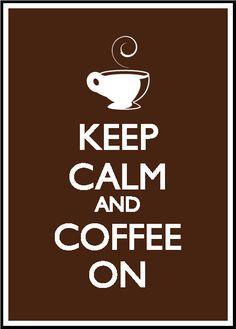 Keep Calm and Coffee On by Jordan Boyette, via Behance