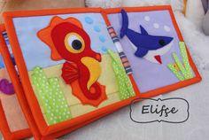 Developıng book for child, book from felt, sea life book,keçe kitap keçeden, развивающая книжка, морская развивающая книжка, морская книжка, развивашка,