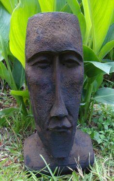 #9   TIKI GOD FOUNTAIN MOAI EASTER ISLAND HEAD CONCRETE/CEMENT GARDEN STATUE