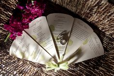 ceremony program and wedding rings