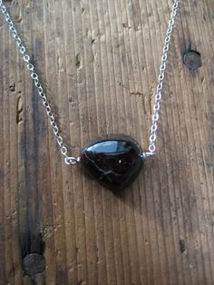SALE  Garnet and Sterling Silver Necklace by hoitytoitydesigns, $15.00
