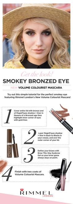 Get the look: Smokey Bronzed Eye. Step Cover entire lid with bronze end of Magnif'eyes shadow + l Beauty Make Up, Diy Beauty, Beauty Hacks, Makeup Tips, Eye Makeup, Hair Makeup, Perfect Eyes, Beauty Secrets, Beauty Tips