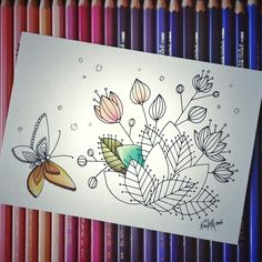 Lovely Coloring Postcard Instant Download! ^^