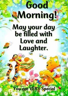 Tigger, Winnie The Pooh & Piglet Good Morning Wishes Cute Good Morning Quotes, Good Day Quotes, Good Morning Inspirational Quotes, Good Morning Wishes, Cute Quotes, Good Morning Best Friend, Good Morning Minions, Morning Pics, Winnie The Pooh Pictures