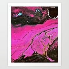 Macro photo of a liquid acrylic painting