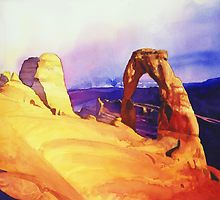 """""""Delicate Arch"""" Watercolor by Paul Jackson"""