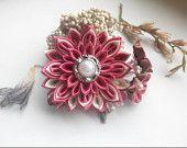 Kanzashi hair clip/Kanzashi flower/Hair clip for girls/Head accessories