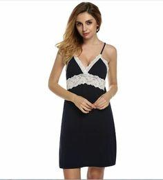 Genteel Women Sexy Lace Lingerie Set Side Slit Nightwear Nightgowns Underwear Sleepshirts Babydoll Sleepwear Slip Dress Lounge Fashionable In Style;