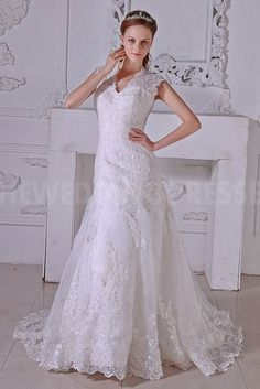V-Neck Luxury Ivory Bridal Gowns - Order Link: http://www.theweddingdresses.com/v-neck-luxury-ivory-bridal-gowns-twdn3737.html - Embellishments: Beading; Length: Floor Length; Fabric: Organza; Waist: Natural - Price: 195.2608USD