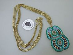 Long Necklace with Vintage Brass Box Chain and by tyramadejewelry, $60.00