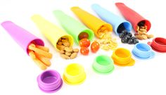 Amazon.com | #1 Best Multi Use Silicone Snack Bag Snack Box Containers Ice Pop Maker Molds All in One Set of 6 - Popsicle Molds - Snack Bags for Bento Box Lunch Boxes - Kids Lunch Containers Totes - Safe Food Grade Travel Snack Storage - Brand: Ideas In Life-Tm®: Cereal Bowls