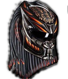 AWESOME PREDATOR HELMET FOR BIKER DOT  AVAILABLE SIZE  M, L, XL