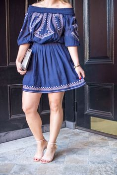 Off the shoulder dress for Spring  Boston Chic Party