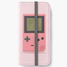 'Pink Nintendo Game Boy ' iPhone Wallet by SinandTonic Iphone Wallet, Iphone 6, Iphone Cases, Game Boy, Open Book, Nintendo Games, 6s Plus, Adhesive, Printed