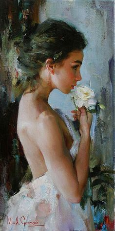 The Garmash's incredible talent is only matched by their love and career stories. Michael and Inessa won several International awards for their portrait work and are considered to be one of the most important figurative artists working on the US market. Woman Painting, Figure Painting, Painting & Drawing, Painted Ladies, Pics Art, Erotic Art, Beautiful Paintings, Figurative Art, Artist At Work