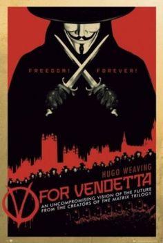 Buyartforless V for Vendetta - Freedom Forever Movie Art Print Poster Hugo Weaving Political Thriller Anarchist Freedom Fighter V For Vendetta Poster, V For Vendetta Movie, Fiction Movies, Science Fiction, Forever Movie, Cool Posters, Movie Posters, Cinema Posters, Hugo Weaving