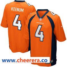 06b1c8f93fed6 Men s Denver Broncos  4 Case Keenum Orange Team Color Stitched NFL Nike  Game Jersey Colorado