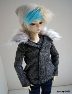 43cm Mini / MSD  Grey Wool Jacket