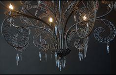 Metalwork chandelier, emery et cie