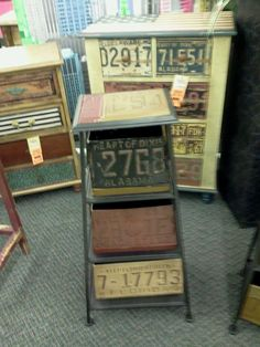 Attirant License Plate Furniture
