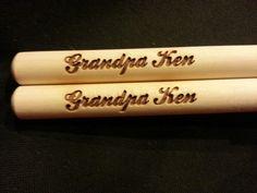 Custom engraved drumsticks for Karen from 3dcarving on Etsy