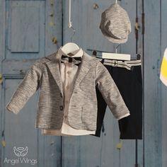 Βαπτιστικό Σύνολο για Αγόρια Μπλε με Μπεζ | Angel Wings 087 Boy Christening, Boy Outfits, Oxford, Suit Jacket, Leather Jacket, Blazer, Boys, Jackets, Clothes