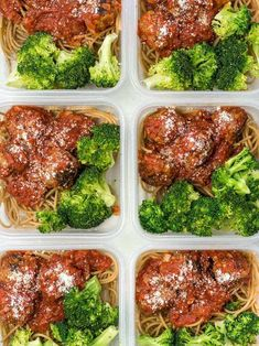 Sunday Meal Prep: Skillet Meatballs and Marinara - Budget Bytes This week's Skillet Meatballs and Marinara meal prep features homemade Italian meatballs, whole wheat pasta, fresh broccoli and bananas for dessert. Sunday Meal Prep, Lunch Meal Prep, Meal Prep Bowls, Easy Meal Prep, Healthy Meal Prep, Easy Meals, Healthy Eating, Healthy Recipes, Dinner Meal