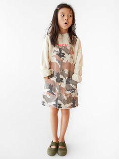 ZARA - Unisex - Camouflage overall dress - Multicolored - 9 years inches) Zara Dresses, Girls Dresses, Dresses Dresses, Camouflage, Denim Overall Dress, Jumpsuits For Girls, Poplin Dress, Under Dress, Patchwork Dress