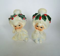 Vintage Lefton Snowbabies porcelain by BrilbunnySelections on Etsy