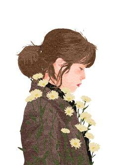 Portrait Illustration IU - My Mister.̣( by lylethuy Art And Illustration, Portrait Illustration, Art Inspiration Drawing, Anime Art Girl, Aesthetic Art, Couple Aesthetic, Cute Drawings, Cute Art, Art Sketches