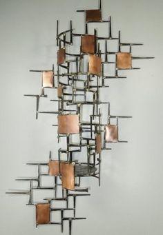 Wall Sculpture Metal copper wall ribbonslinda leviton (metal wall sculpture