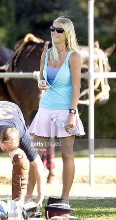 Chelsy Davy, girlfriend of Prince Harry, as she watches the Prince play polo, July 16, 2006, at Guards Polo ground, Windsor.