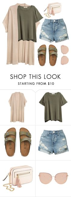 """Simple Casual #15"" by miserylovescompany ❤ liked on Polyvore featuring Birkenstock, 3x1, Miss Selfridge and Topshop"