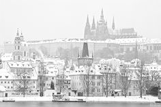 Prague Castle and Mala Strana / Pražský hrad a Malá Strana Lesser Town (Malá Strana) and Prague Castle in freezing morning. Temperature was below -15°C and you could see the fog coming out of Vltava river. The whole city of Prague was covered by frosty mist after the dawn.