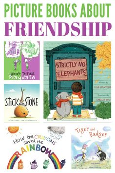 Help your child learn to make and keep great friends with this fabulous collection of picture books about friendship. Preschool Friendship, Friendship Lessons, Friendship Theme, Friendship Group, Preschool Books, Book Activities, Sequencing Activities, Drama Activities, Kindergarten Books