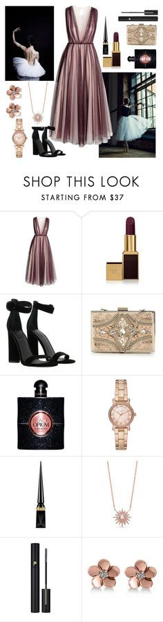 """""""Untitled #567"""" by dolrebeca ❤ liked on Polyvore featuring BYRON, H&M, Tom Ford, Kendall + Kylie, Forever Unique, Yves Saint Laurent, Michael Kors, Christian Louboutin, Anne Sisteron and Lancôme"""