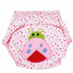 2017 Baby Diapers Children Reusable Underwear Breathable Diaper Cover Cotton Training Pants Cartoon Nappy