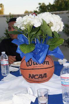 New basket ball decorations brother ideas Basketball Wedding, Soccer Banquet, Sports Wedding, Basketball Party, Basketball Gifts, Personalized Basketball, Basketball Season, Sports Party, Soccer Ball