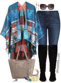 Plus Size Ruana Wrap Outfit - Plus Size Winter Outfit - Plus Size Fashion for Women - alexawebb.com #alexawebb