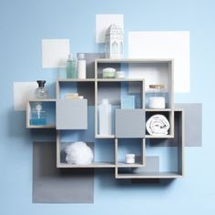 Thorunn Arnadottir made this Cloud Shelf to double as a storage system and three-dimensional work of art. Comprised of vinyl stickers and a plywood frame, it has two drawers for hiding all sorts of treasures. Use it to hold books, photographs, vases, and magazines, or leave it all on its own as a geometric wall sculpture.