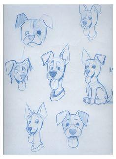 Cartoon Dog Drawing, Cartoon Painting, Cartoon Sketches, Animal Sketches, Cartoon Art, Drawing Sketches, Art Drawings, Drawing Tips, Drawing Ideas