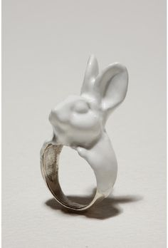 from urbanoutfitters bunny ring. I want!