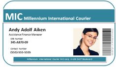 Online Id Badge Maker And Card Printing Service Free Templates