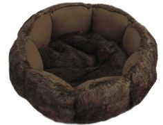 Korb (s) Pelz Braun  -  Happy-House Happy House, Bean Bag Chair, Furniture, Home Decor, Beds, Pets, Dogs, Budget, Fur