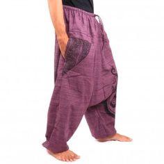 Pantalón afganos con dos amplios bolsillos laterales