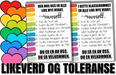 LHBT, likeverd og toleranse i klasserommet | Malimo Bullet Journal, Bullying
