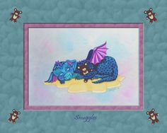 Snuggles. * Dragon Hatchling Egg Baby Babies Cute Funny Humor Fantasy Myth Mythical Mystical Legend Dragons Wings Sword Sorcery Magic Art Fairy Maiden Whimsy Whimsical Drache drago dragon Дракон  drak dragão