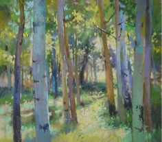 "A pastel gem - Christine Debrosky, ""To The Clearing,"" pastel, 12 x 12 in"