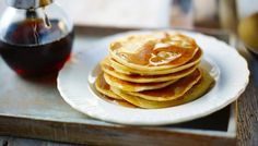 Canadian buttermilk pancakes with maple syrup by Delia Smith